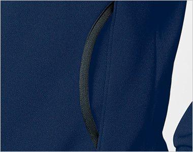 UZL6021 ルコック 裏パイルカーディガン(男女兼用) ポケット