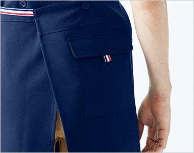 UZL7011 ルコック 胸当てエプロン(男女兼用) 現場のニーズに応えたヒップポケット