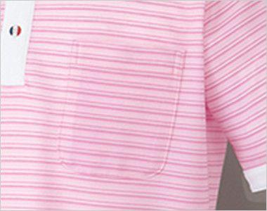 UZL8023 ルコック ボーダーニットポロシャツ(男女兼用) ポケット