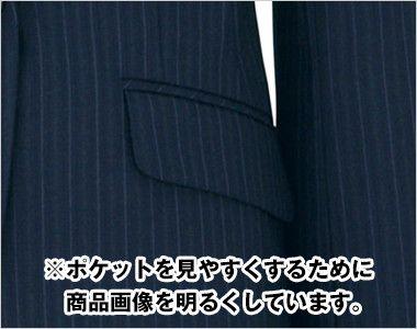 BONMAX AJ0224 アウトラストI [通年]ジャケット(1つボタン) ストライプ フラップポケット付き