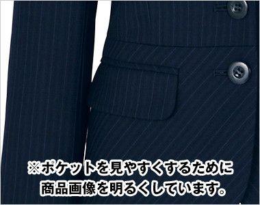 BONMAX AJ0225 アウトラストI [通年]ジャケット(2つボタン) ストライプ フラップポケット付き
