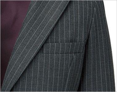 BONMAX AJ0237 ベガ 5つの優れた機能付き!寒色系のピンストライプのジャケット ポケット付き