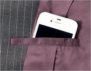 BONMAX AJ0237 ベガ 5つの優れた機能付き!寒色系のピンストライプのジャケット 内ポケット