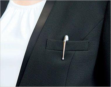 BONMAX AJ0243 [通年]インプレス 前ホック留めのジャケット 無地 ポケット付き