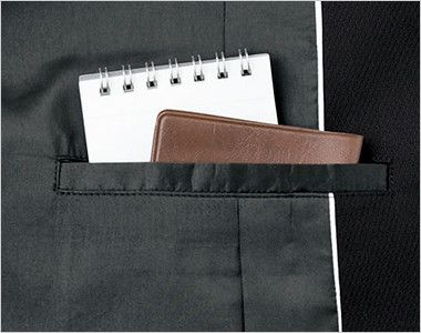 BONMAX AJ0243 [通年]インプレス 前ホック留めのジャケット 無地 内ポケット