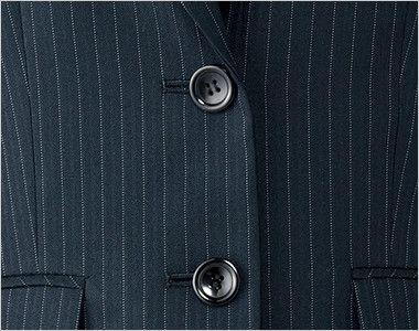 AJ0245 BONMAX/リアン ジャケット(2つボタン)  ストライプ ボタン部分
