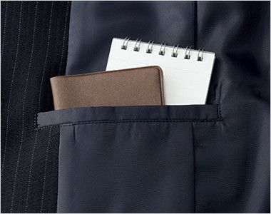 AJ0245 BONMAX/リアン ジャケット(2つボタン)  ストライプ 内ポケット