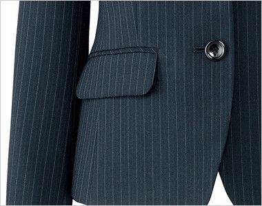 AJ0245 BONMAX/リアン ジャケット(2つボタン)  ストライプ フラップポケット付き