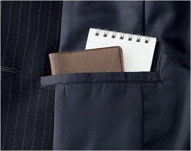 BONMAX AJ0246 [通年]リアン ストライプジャケット(1つボタン) 内ポケット