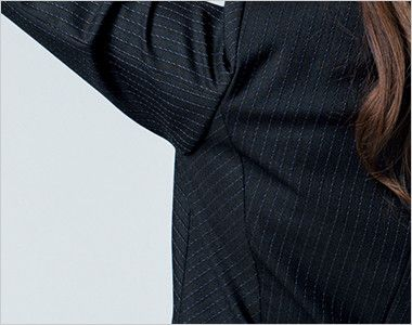 BONMAX AJ0247 [通年]オピニオン ストライプジャケット 動きやすい袖のパターン設計