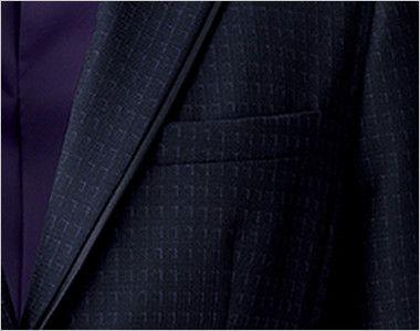 BONMAX AJ0268 ポリジン ジャケット [チェック/静電気防止/抗菌防臭] 箱ポケット付き