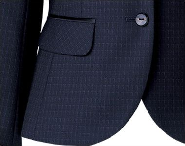 BONMAX AJ0268 ポリジン ジャケット [チェック/静電気防止/抗菌防臭] フラップポケット付き