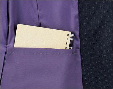BONMAX AJ0268 ポリジン ジャケット [チェック/静電気防止/抗菌防臭] メモ帳が入る深さの内ポケット