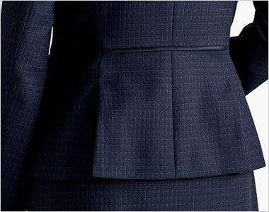BONMAX AJ0268 ポリジン ジャケット [チェック/静電気防止/抗菌防臭] 裾のベンツで腰まわりゆったり。腰位置を高く見せるウエストパイピング付き。
