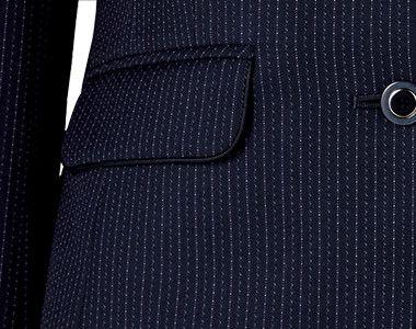 BONMAX AJ0273 [通年]ポリジン ジャケット [ストライプ/抗菌防臭] フラップポケット付き