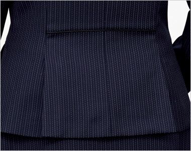 BONMAX AJ0273 [通年]ポリジン ジャケット [ストライプ/抗菌防臭] 裾のベンツで腰まわりゆったり。腰位置を高く見せるウエストパイピング付き。
