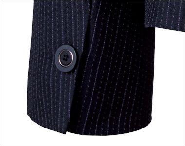 BONMAX AJ0273 [通年]ポリジン ジャケット [ストライプ/抗菌防臭] ボタン付き