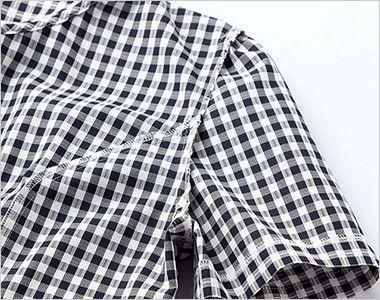 AJ0826 BONMAX/セフィーロ オーバーブラウス チェック 消臭効果のある糸