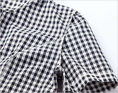 AJ0827 BONMAX/セフィーロ オーバーブラウス チェック 消臭効果のある糸