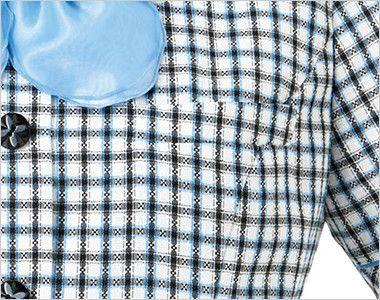[在庫限り/返品交換不可]AJ0829 BONMAX/ジェニー オーバーブラウス(リボン付き) チェック ポケット付き