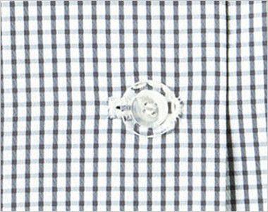 BONMAX AJ0830 [春夏用]ケイティー リボン付きオーバーブラウス チェック ボタン部分