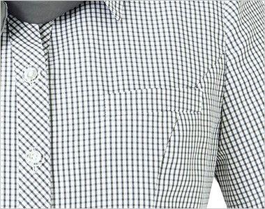 BONMAX AJ0831 [春夏用]ケイティー オーバーブラウス チェック スカーフ付き ポケット付き