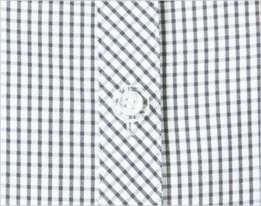 BONMAX AJ0831 [春夏用]ケイティー オーバーブラウス チェック スカーフ付き ボタン部分