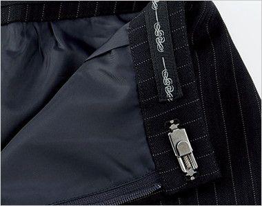 BONMAX AS2284 [通年]リアン Aラインスカート ストライプ 内側にはインナーがずれにくいすべり止め付き