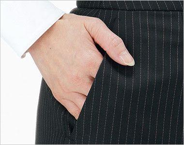 BONMA AS2300 [通年]コーデュラカラーST Aラインスカート 斜めポケット