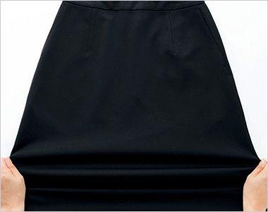 BONMAX AS2301 [通年]ハウンドトゥースニット セミタイトスカート ニット 無地 ストレッチ生地