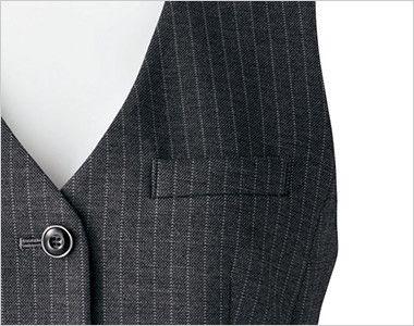 [在庫限り/返品交換不可]BONMAX AV1244 [通年]アウトラストA ベスト ストライプ ポケット付き