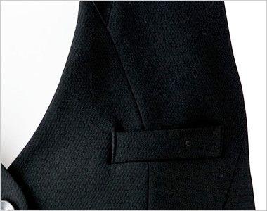 BONMAX AV1248 [通年]インプレス 衿元サテン ベスト 無地 ポケット付き
