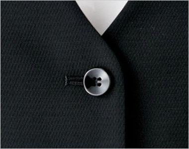 BONMAX AV1248 [通年]インプレス 衿元サテン ベスト 無地 ボタン部分