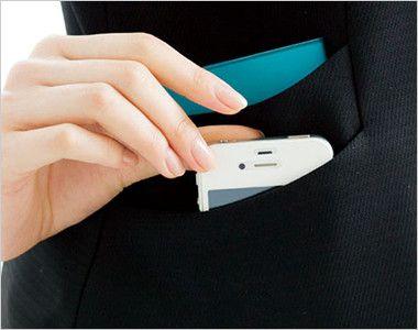 BONMAX AV1248 [通年]インプレス 衿元サテン ベスト 無地 挟み込みポケット(右側はWポケット仕様)
