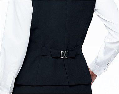 BONMAX AV1248 [通年]インプレス 衿元サテン ベスト 無地 背ベルト付き