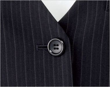 BONMAX AV1250 [通年]リアン ベスト ストライプ シンプルな黒ボタン