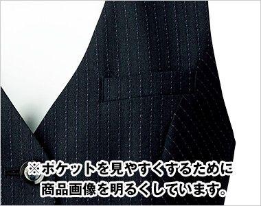 BONMAX AV1251 [通年]極みストライプ ベスト ポケット付き