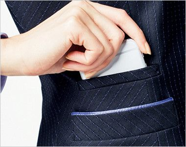BONMAX AV1251 [通年]極みストライプ ベスト スマホ対応ポケット  右側スマホ対応ポケット