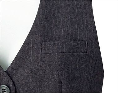 BONMAX AV1253 [通年]リゲル ベスト ストライプ ポケット付き