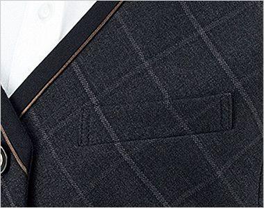 BONMAX AV1265 [通年]チェック柄ベスト[トラッドパターン] ポケット付き