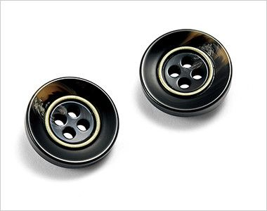 BONMAX AV1265 [通年]チェック柄ベスト[トラッドパターン] べっ甲風のデザインボタン