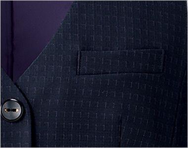 BONMAX AV1269 ポリジン ベスト [チェック/静電気防止/抗菌防臭] 箱ポケット付き