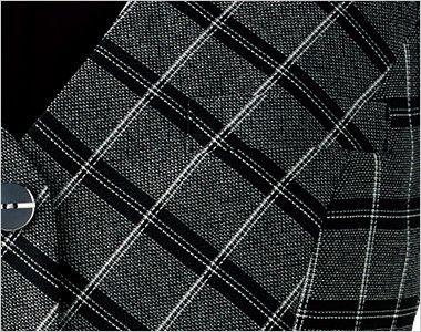BONMAX AV1272 [通年]ポリジン ベスト[チェック/抗菌防臭] 箱ポケット付き