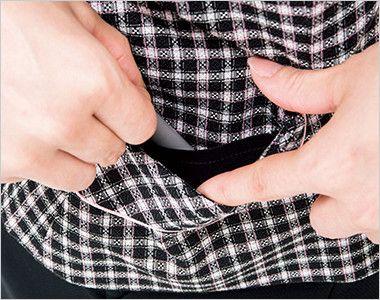 [在庫限り/返品交換不可]AV1824 BONMAX/ジェニー ベスト チェック 挟み込みポケット(右側小分けポケット付)