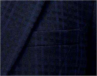 BCJ0114 BONMAX/ニュアンスドビー ジャケット チェック ジャケットの内側にメモ帳が入る深さの内ポケット付き