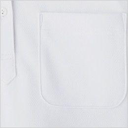 FB4018L ナチュラルスマイル ドライポロシャツ 花柄A(女性用) アウトポケットを配置。ペンを挿すなど便利に使えます
