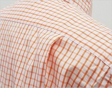FB4507U FACEMIX グラフチェックシャツ/半袖(男女兼用)ボタンダウン 動きやすいタック入り