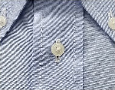 FB4510U FACEMIX オックスシャツ/長袖(男女兼用)無地ボタンダウン ボタン部分