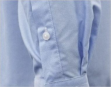 FB4510U FACEMIX オックスシャツ/長袖(男女兼用)無地ボタンダウン 腕まくりがしやすい袖ボタン付き