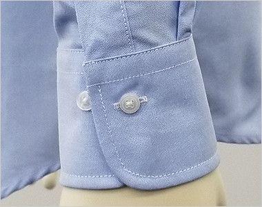 FB4510U FACEMIX オックスシャツ/長袖(男女兼用)無地ボタンダウン ボタンで調節できます